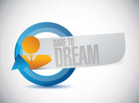dare: dare to dream avatar cycle sign concept illustration design graphic
