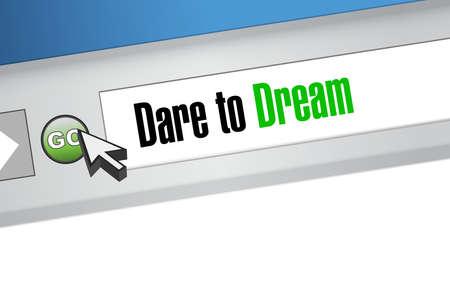 dare to dream web search concept illustration design graphic Illustration