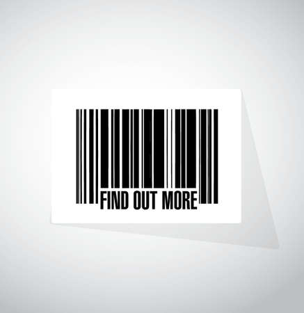 seeking an answer: find out more barcode sign concept illustration design graphic Illustration