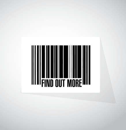 realize: find out more barcode sign concept illustration design graphic Illustration