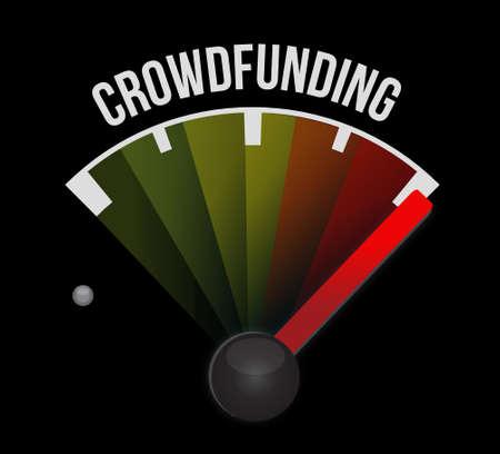 Crowdfunding signe mètre graphique concept design illustration Banque d'images - 64837423