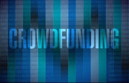 crowdfunding binary sign concept illustration design graphic