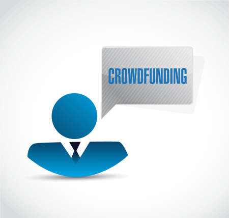 Crowdfunding signe avatar graphique concept design illustration Banque d'images - 64837253