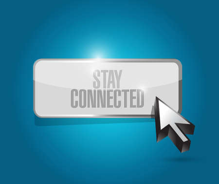 tweet icon: stay connected button sign illustration design graphic