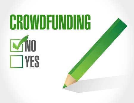 no crowdfunding approval sign concept illustration design graphic Illustration