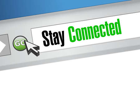 stay: stay connected website sign illustration design graphic