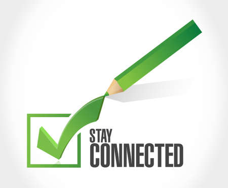 check sign: stay connected check mark sign illustration design graphic Illustration