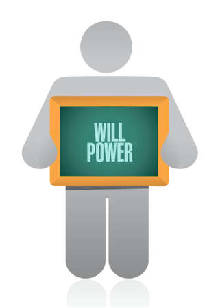 self control: will power avatar sign concept illustration design graphic Illustration