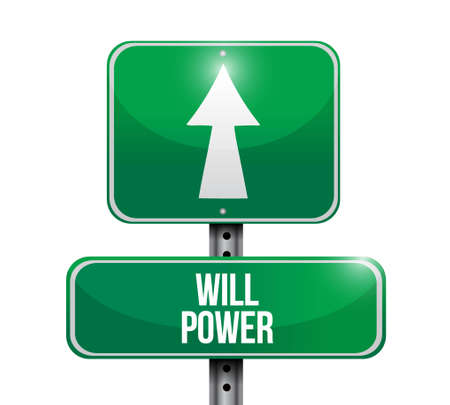 will power street sign concept illustration design graphic