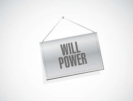 will power banner sign concept illustration design graphic Illustration