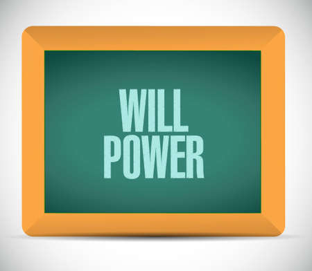 self control: will power chalkboard sign concept illustration design graphic