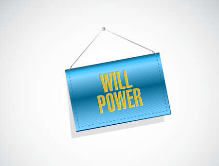 will: will power banner sign concept illustration design graphic Illustration