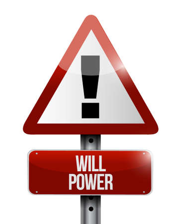 self control: will power warning sign sign concept illustration design graphic