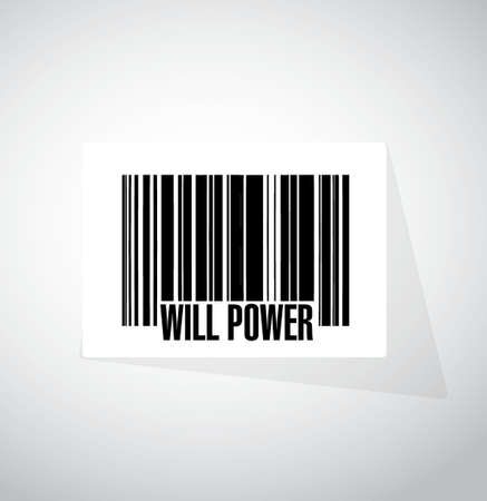 self control: will power banner sign concept illustration design graphic Illustration