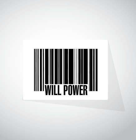 Wilskracht banner-concept teken illustratie grafisch Stockfoto - 64969432
