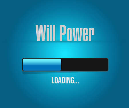 self control: will power loading bar sign concept illustration design graphic