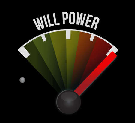 self control: will power meter sign concept illustration design graphic