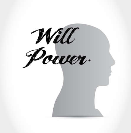 self esteem: will power mind sign concept illustration design graphic