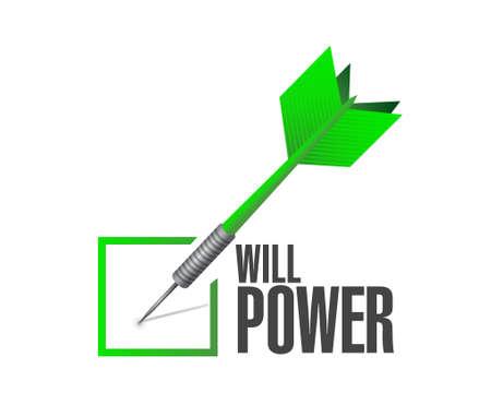 will power check dart sign concept illustration design graphic Illustration