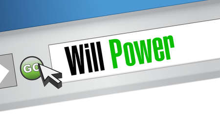 self control: will power website sign concept illustration design graphic