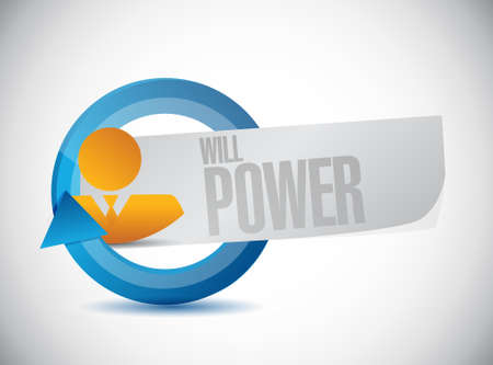 will power people cycle sign concept illustration design graphic