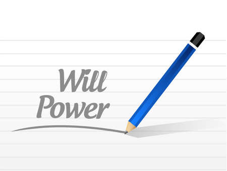 self control: will power message sign concept illustration design graphic Illustration
