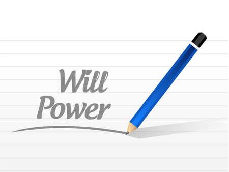 will power message sign concept illustration design graphic Ilustração