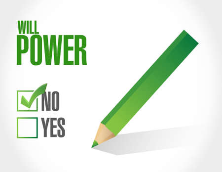 will: no will power sign concept illustration design graphic Illustration