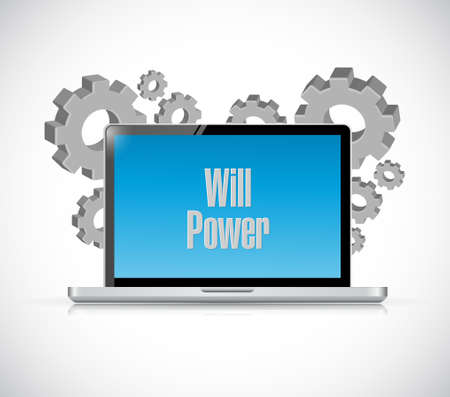 self control: will power computer sign concept illustration design graphic