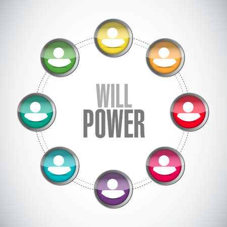 will power people network sign concept illustration design graphic