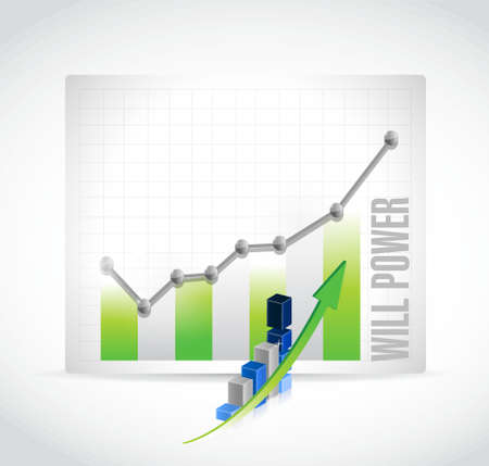 will power business graph sign concept illustration design graphic