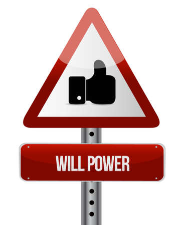self esteem: will power like sign concept illustration design graphic
