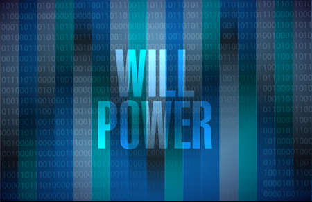will: will power binary background sign concept illustration design graphic