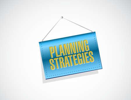 strategic advantage: planning strategies banner sign concept illustration design graphic