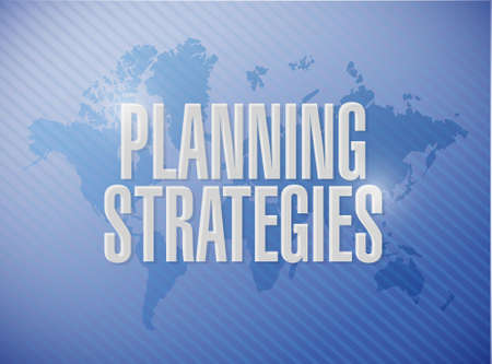 strategic advantage: planning strategies world map sign concept illustration design graphic