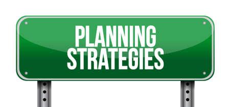 strategic advantage: planning strategies road sign concept illustration design graphic