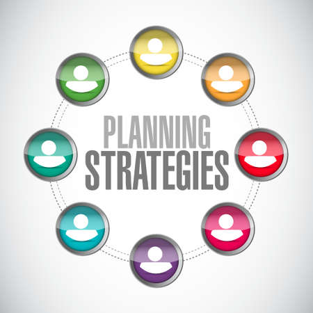 planning strategies people connections sign concept illustration design graphic