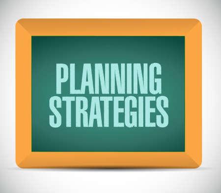 strategic advantage: planning strategies chalkboard sign concept illustration design graphic Illustration
