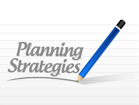 strategic advantage: planning strategies message sign concept illustration design graphic Illustration