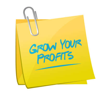 grow your profits memo post sign concept illustration design graphic