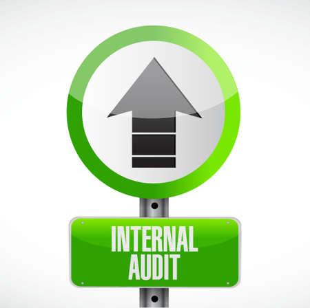 Internal Audit road sign concept illustration design graphic