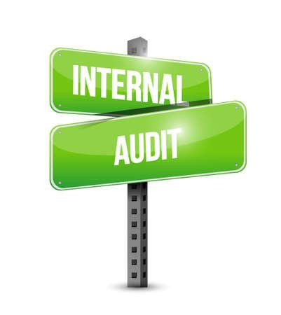 internal audit: Internal Audit street sign concept illustration design graphic Illustration