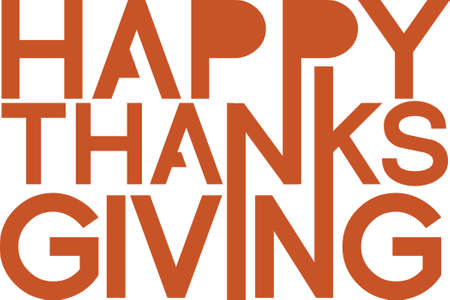 sign orange: Happy Thanksgiving orange sign illustration design graphic over white Illustration