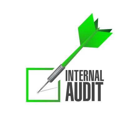 internal audit: Internal Audit check dart sign concept illustration design graphic Illustration