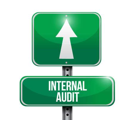 internal audit: Internal Audit road sign concept illustration design graphic
