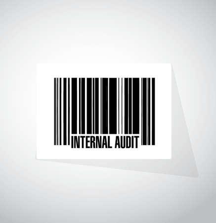 Código de barras de Auditoría Interna signo concepto ejemplo del diseño gráfico Foto de archivo - 66142023