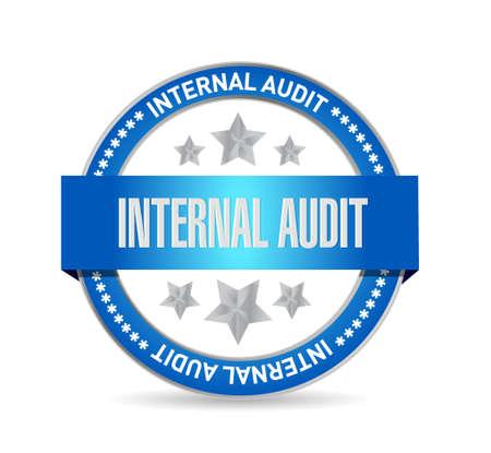 internal audit: Internal Audit seal sign concept illustration design graphic Illustration