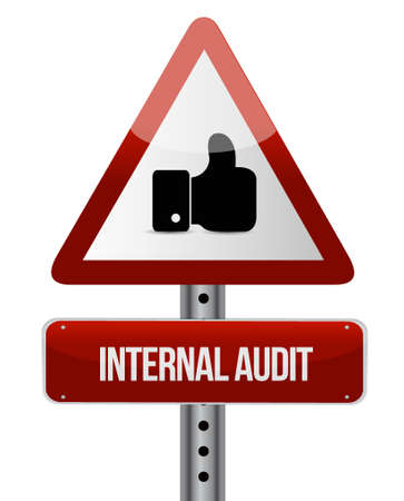 internal audit: Internal Audit like road sign concept illustration design graphic Illustration