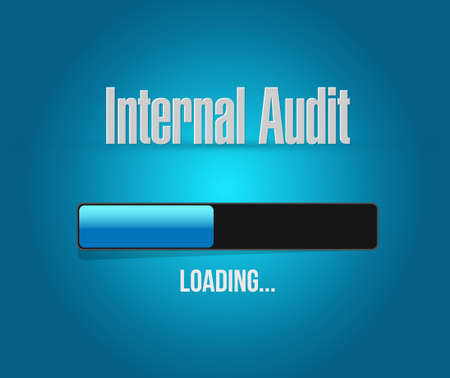 Internal Audit loading bar sign concept illustration design graphic 向量圖像