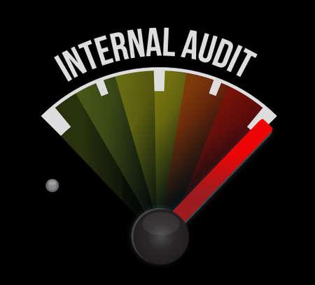 internal audit: Internal Audit meter sign concept illustration design graphic